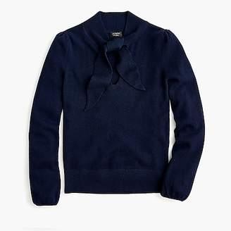 J.Crew Everyday cashmere tie-neck blouse