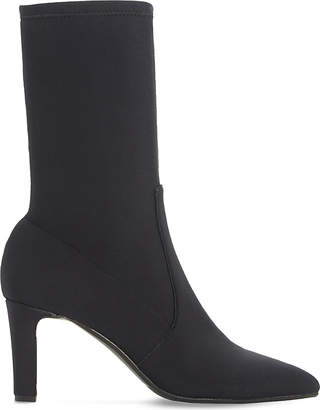 Dune Black Ladies Black Glamour Oksanah Neoprene Calf Boots