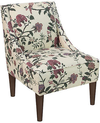 One Kings Lane Quinn Swoop-Arm Chair - Shaana Red