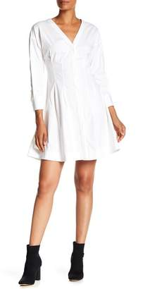 Theory Darted Button Down Dress