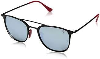 Ray-Ban Steel Unisex Non-Polarized Iridium Square Sunglasses