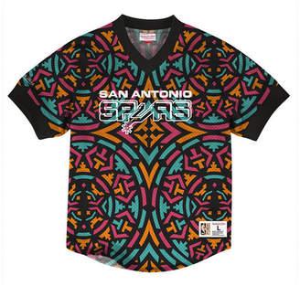 9dcbebd09 Mitchell   Ness Men San Antonio Spurs Kicking It Wordmark Mesh T-Shirt