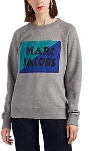 Marc Jacobs Women's Logo-Patch Cotton-Blend Sweatshirt - Gray