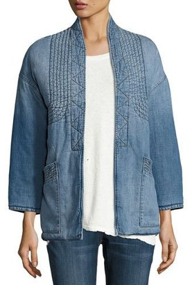 Current/Elliott The Kimono Denim Car Coat, Seto $368 thestylecure.com