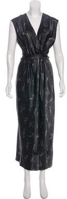 Vince Silk Floral Print Dress
