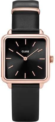 Cluse La Tetragone CL60007 Leather-Strap Watch