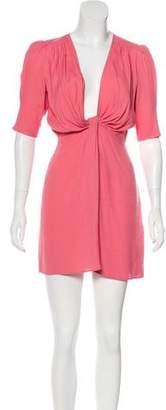 Reformation Three-Quarter Sleeve Mini Dress