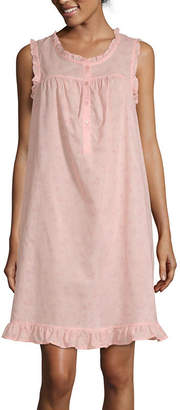 Adonna Ruffle Womens Scoop Neck Sleeveless Nightgown 5a4d37ab6
