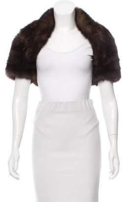 Sable Fur Open Front Shrug