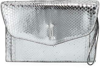 Hayward Bobby Metallic Python Clutch Bag