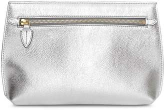 Burberry Metallic Leather Wristlet Clutch