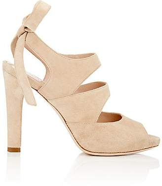 Barneys New York WOMEN'S SUEDE ANKLE-TIE SANDALS - SAND SIZE 5