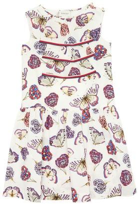 Gucci Butterfly Printed Cotton Poplin Dress
