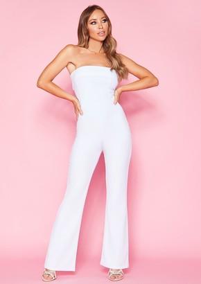 824d51576ee3 Missy Empire Missyempire Cassie White Bandeau Jumpsuit