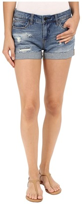 Blank NYC - Denim Cuffed Distressed Shorts in Weekend Warrior Women's Shorts $78 thestylecure.com