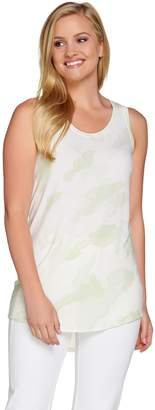 Halston H By H by Printed Scoop Neck Knit Tank