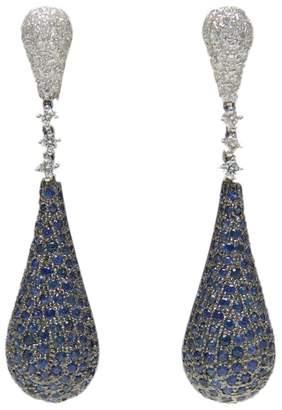Ri Noor - Blue Sapphire & Diamond Earrings