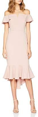 Quiz Women's Bardot diphem Dress, (Pink 00), (Size:)