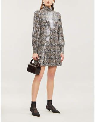 Olivia Rubin Melissa Leopard Print Sequinned Mini Dress