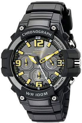 Casio Men's MCW-100H-9AVCF Heavy Duty-Design Chronograph Black Watch