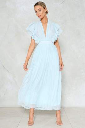 Nasty Gal The Pleat is On Maxi Dress