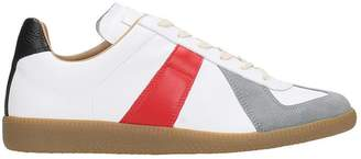 Maison Margiela Sneakers Replica In White-red Leather