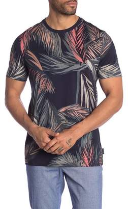 Ted Baker Short Sleeve Tropical Print Tee