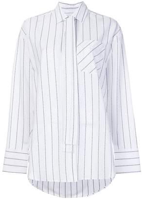 MSGM oversize striped shirt