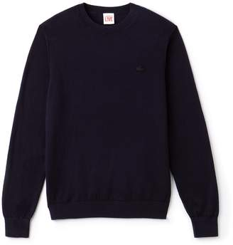 Lacoste Men's LIVE Crew Neck Cotton And Cashmere Jersey Sweater
