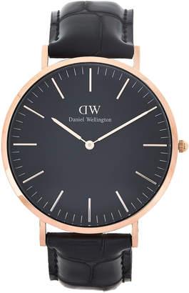 Daniel Wellington DW00100129 Rose Gold-Tone & Black Reading Watch