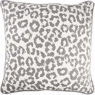 Charles Gray Rizzy Home Andrew Animal Print Transitional Throw Pillow