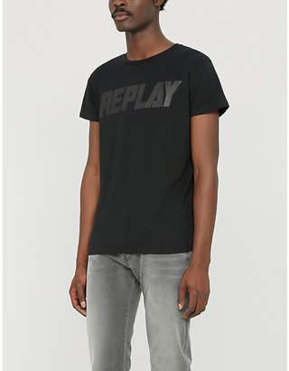 Replay Logo-print cotton-jersey T-shirt