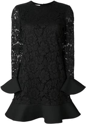 Valentino lace embroidered shift dress