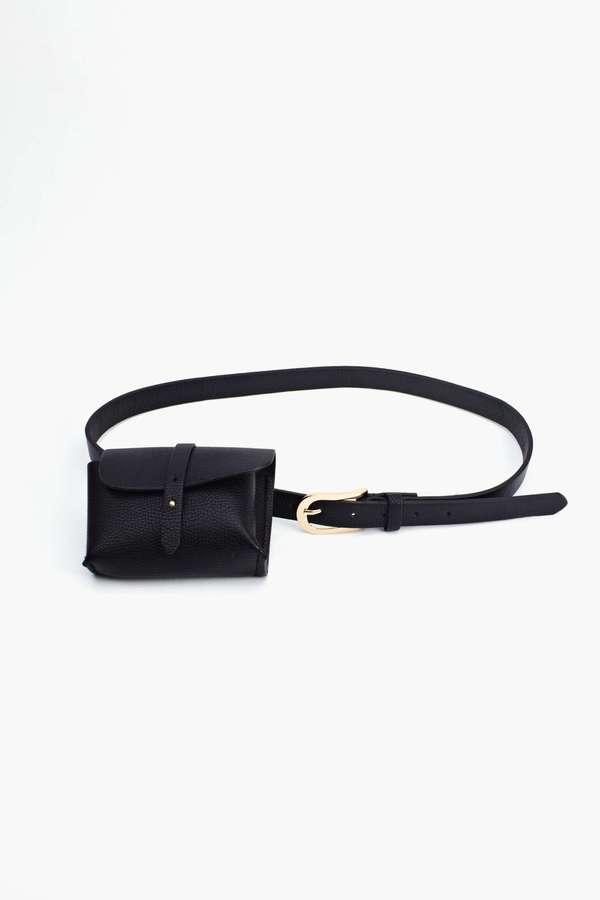 Nasty Gal Night Journey Belt Bag - Black