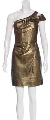 J. Mendel Metallic Mini Dress