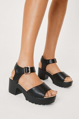Nasty Gal Aces High Vegan Leather Sandal