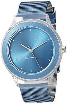 Nine West Women's NW/2137BLBL Mesh Bracelet Watch