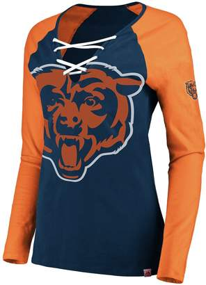 Majestic Women's Chicago Bears The Lace Up Tee