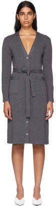Thom Browne Grey Long Rib Cardigan