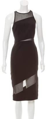 Jay Godfrey Sheer-Paneled Midi Dress w/ Tags