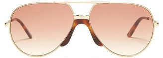 Gucci Tinted Aviator Sunglasses - Womens - Brown Multi