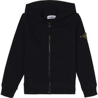 Stone Island Zipped cotton hoody 4-14 years $147 thestylecure.com