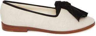 Mansur Gavriel Canvas Bow Flat