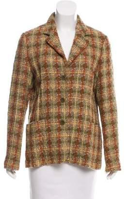 Luciano Barbera Plaid Tweed Blazer