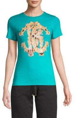 Roberto Cavalli Jewel Logo Graphic T-Shirt