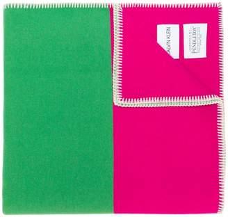 Calvin Klein soft two-tone scarf