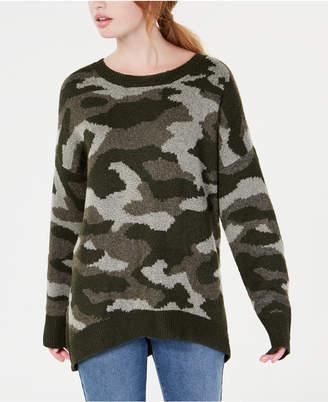 Ultra Flirt By Ikeddi Juniors' Camo Pullover Sweater