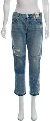 Amo Mid-Rise Distressed Cropped Jeans w/ Tags