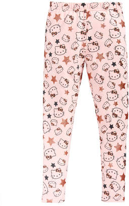 Hello Kitty Toddler Girls Glitter-Star Leggings