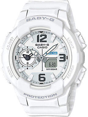 Baby-G New Baby G Women's Analogue Digital Watch Resin Glass White